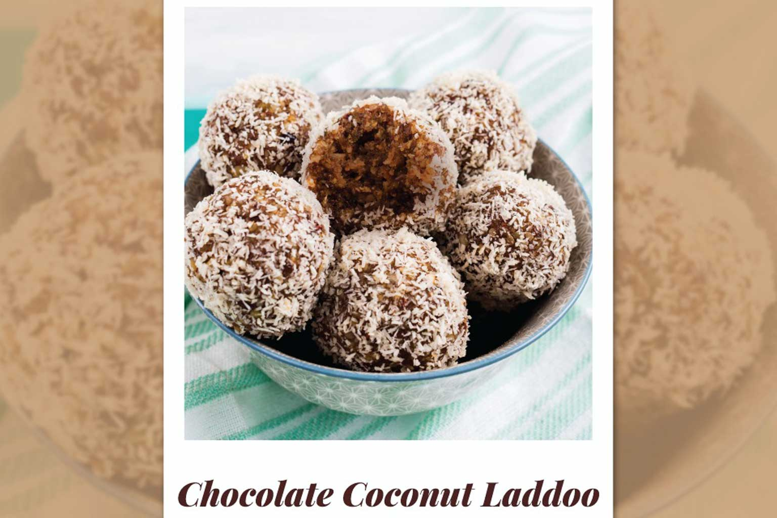 chocolate coconut laddoo